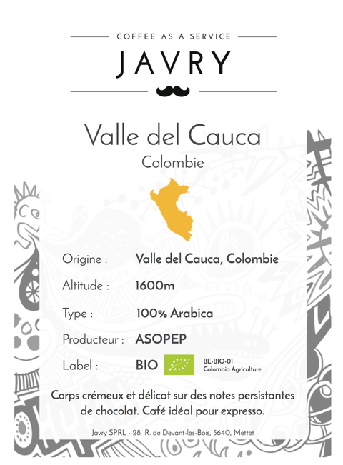 BIO - Valle del Cauca, Colombie - 500g - Grains