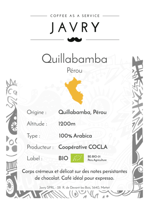 BIO - Cocla - Quillabamba, Pérou - 1kg - Moulu
