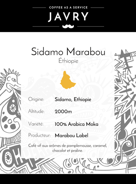 Ethiopie Sidamo - 500gr - Grains