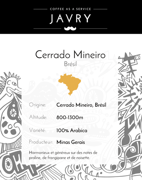 Cerrado Mineiro - Minas Gerais, Brésil - 250g - Moulu