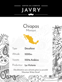 BIO - DECAF - Chiapas, Mexique - 500g - Grains