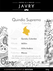 Macao - Quindio, Colombie - 250g - Grains