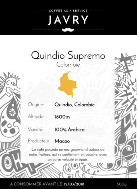 Macao - Quindio, Colombie - 500g - Grains