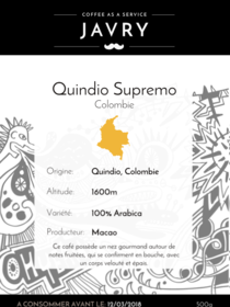 Macao - Quindio, Colombie - 500g - Grains