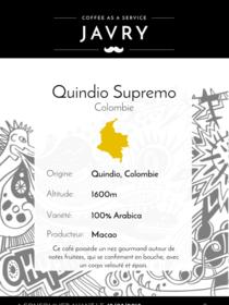 Macao - Quindio, Colombie - 1kg - Moulu
