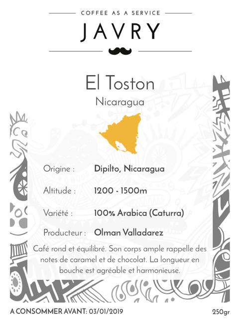 El Toston - Dipilto, Nicaragua - 250g - Moulu