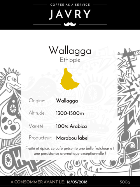 Ethiopie - Wallaga - 500g - Grains