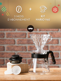 Javry 3 mois + Kit Hario V60 plastique