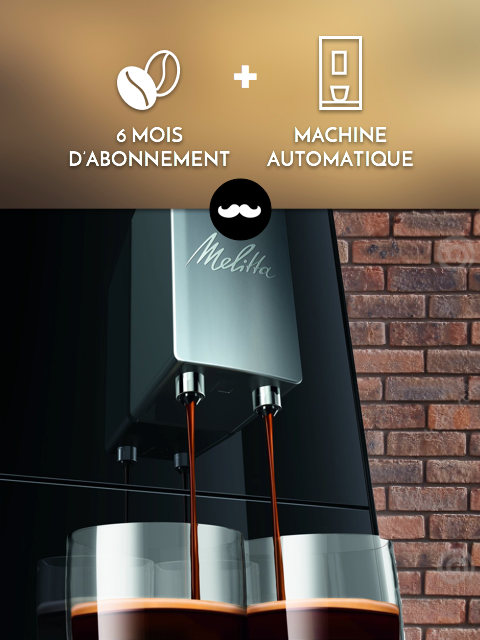 Machine automatique à grains + 6 cafés découverte !