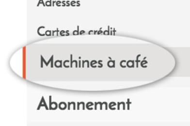ajouter sa machine à café
