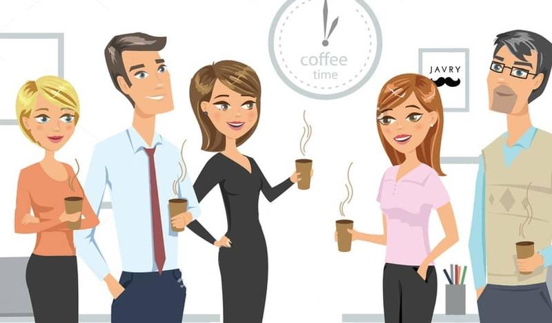 pause café au bureau