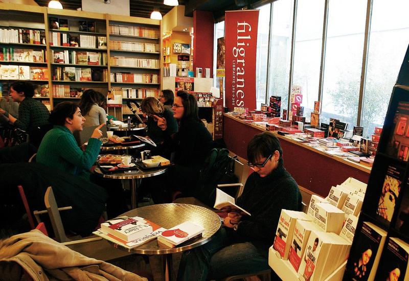 café littéraire Filigranes à Bruxelles