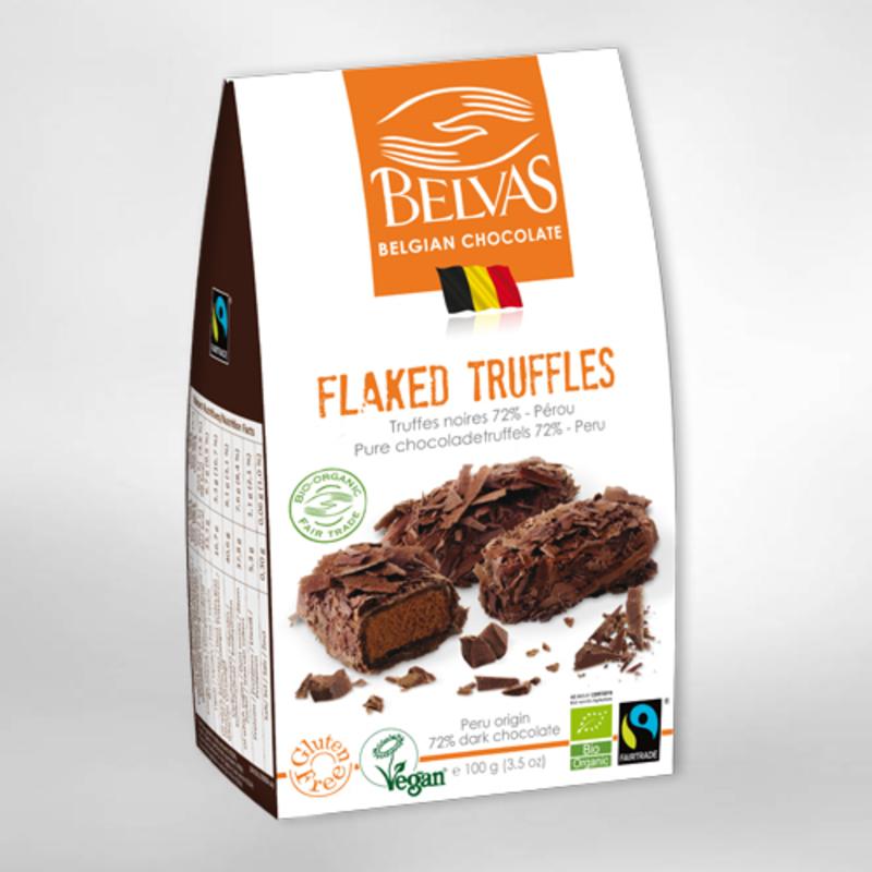 BIO - Truffes paillettes - Chocolat belge (100gr) 1