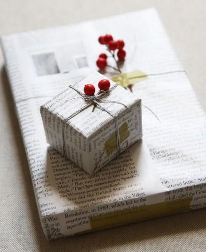 emballage cadeau papier journal