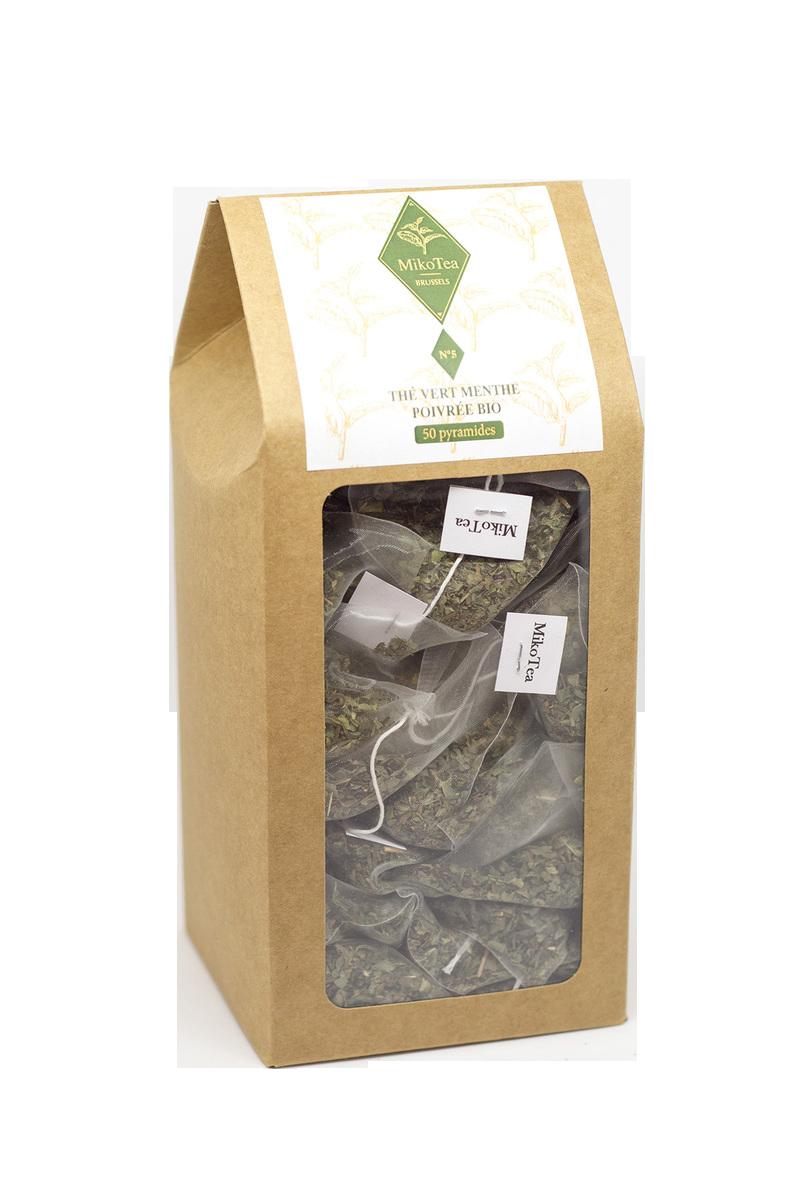 Thé vert menthe poivrée - 50 sachets 1