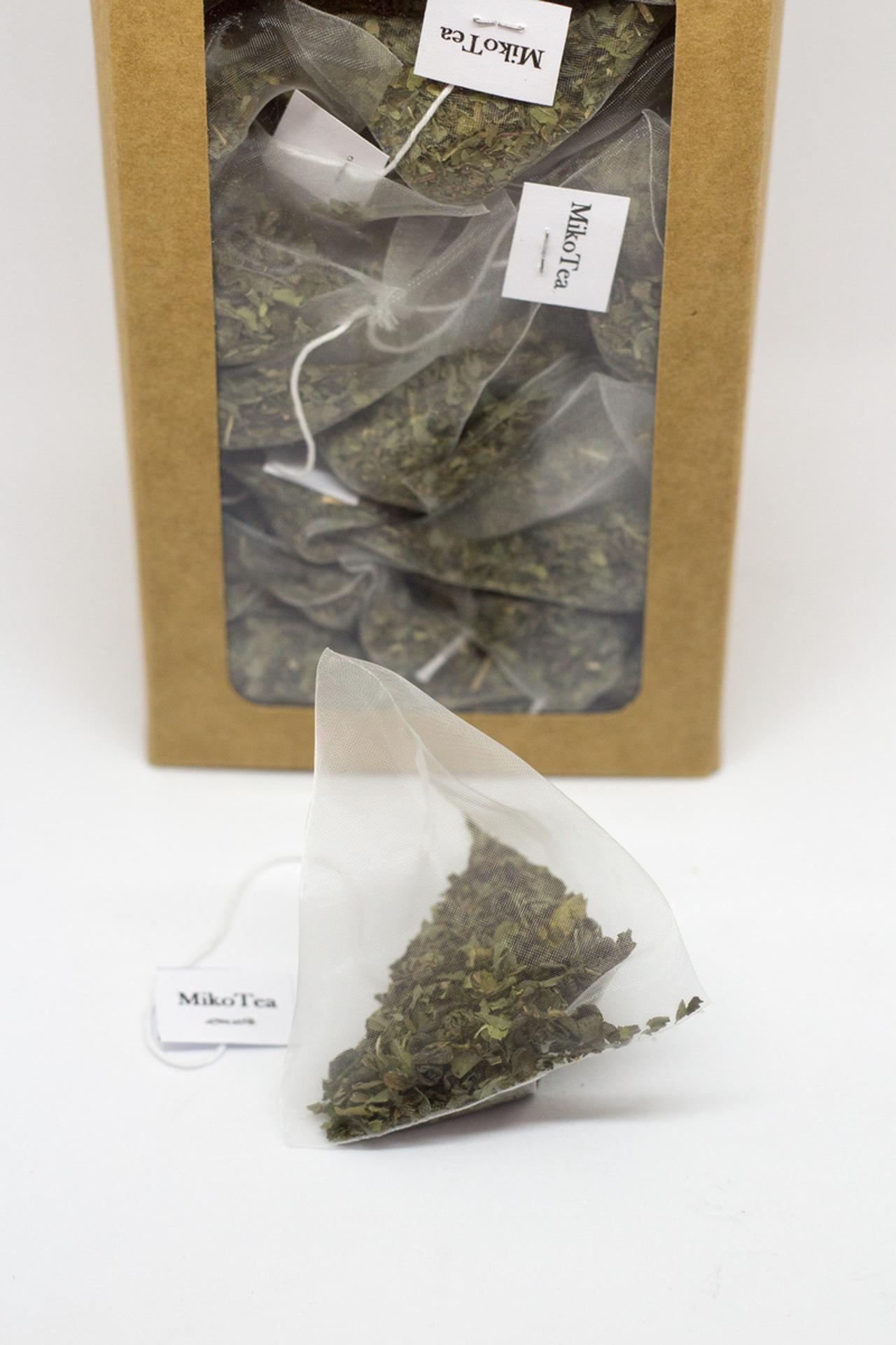 Thé vert menthe poivrée - 50 sachets