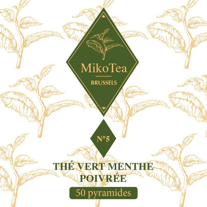 Thé vert menthe poivrée - 50 sachets 3