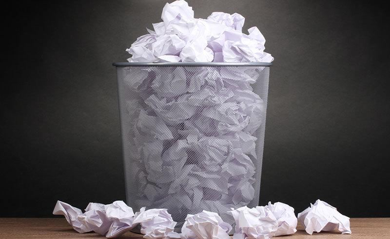 papierverbruik op het werk