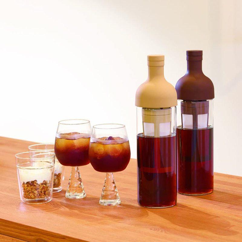 Bouteille pour café froid avec filtre à café intégré - Marron 2