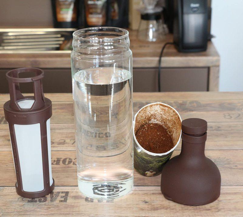 Bouteille pour café froid avec filtre à café intégré - Marron