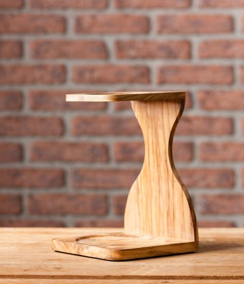 Support pour dripper V60 en bois d'olivier