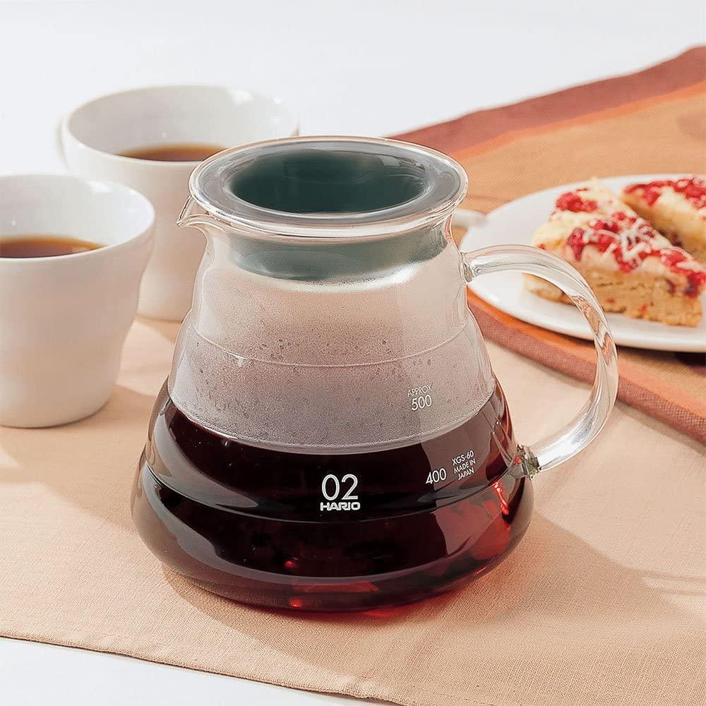 Carafe support en verre pour V60