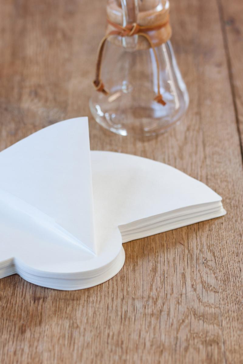 100 witte filters voor Chemex 3 kopjes 1