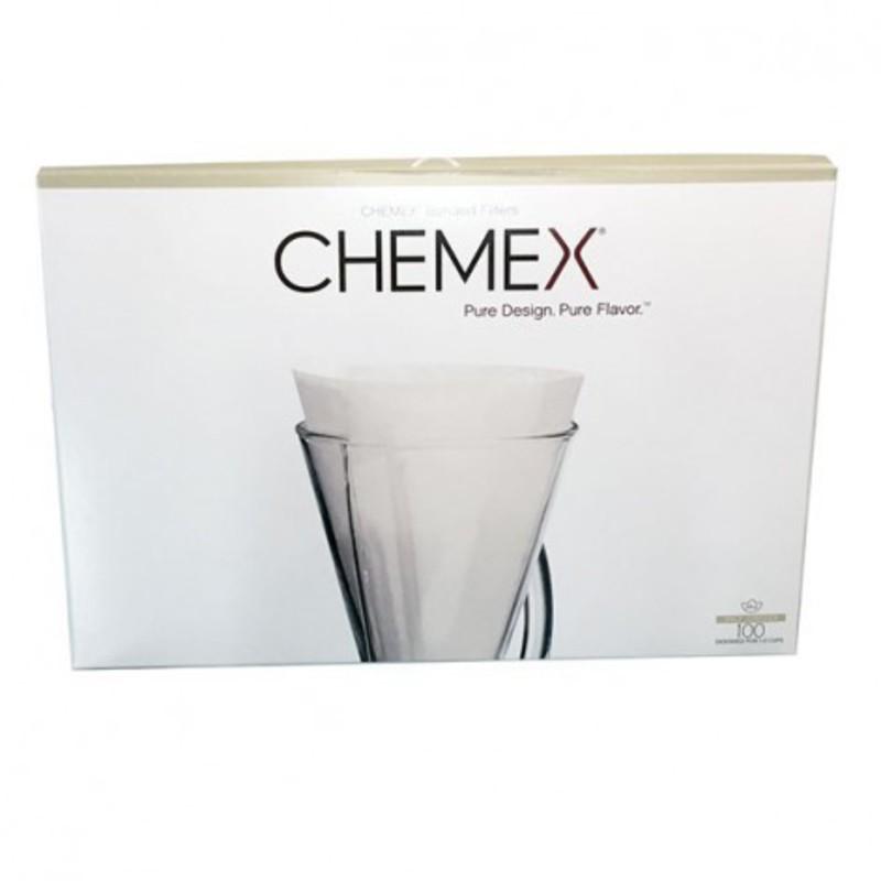 100 witte filters voor Chemex 3 kopjes 2