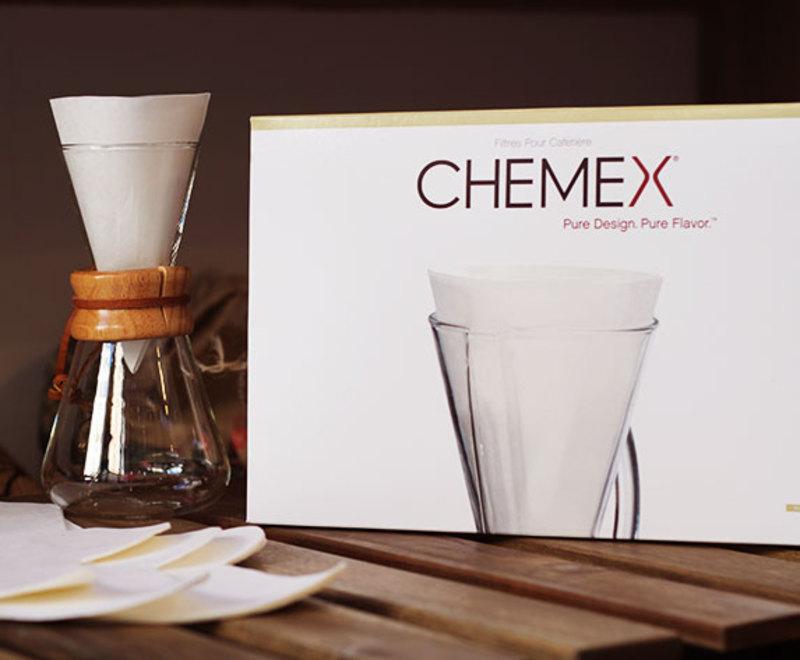 100 witte filters voor Chemex 3 kopjes 3