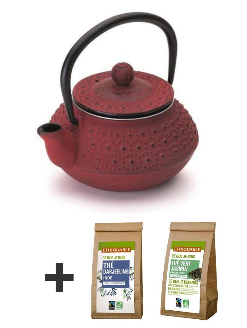 Kit Teapot 300ml + 2 teas 1