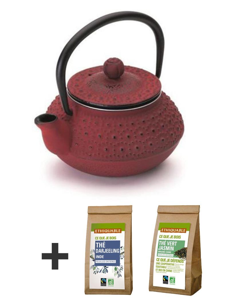 Kit Teapot 300ml + 2 teas