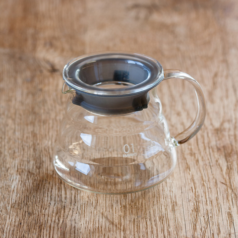 Carafe support en verre pour V60 Dripper 1-3 tasses