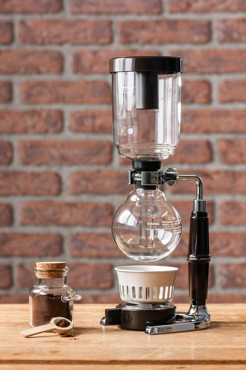 Cafetière à dépression (syphon) en verre - 2 tasses