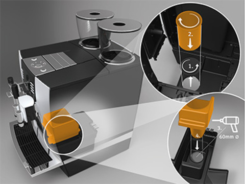 Set d'éjection de marc de café GIGA*