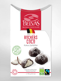 BIO - Kokosrotsjes - Belgische chocolade Belvas (100gr)