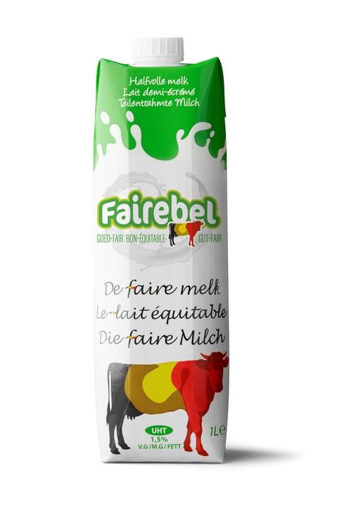 Lait demi-écrémé Fairebel 1L