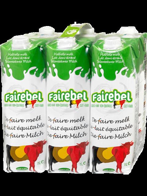 Pack Fairebel, du bon lait belge et équitable !