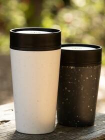Circular&Co. Reusable Coffee Cup 340 ml - Black and white