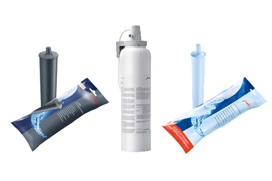 Water filters for professional machines